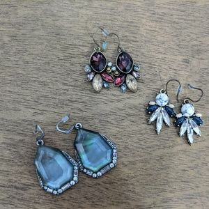 3 pairs Chloe and Isabel Drop Earrings
